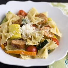 Pasta Primavera with Italian Sausage