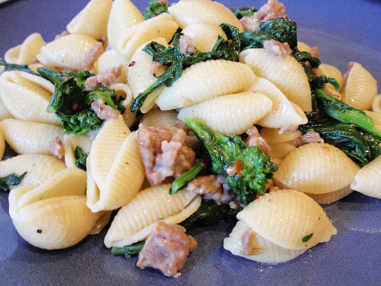 Orecchiette with Spicy Sausage and Broccoli Rabe - Handle the Heat