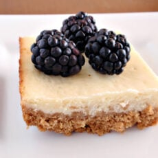 Lemon Cheesecake Squares with Fresh Berries