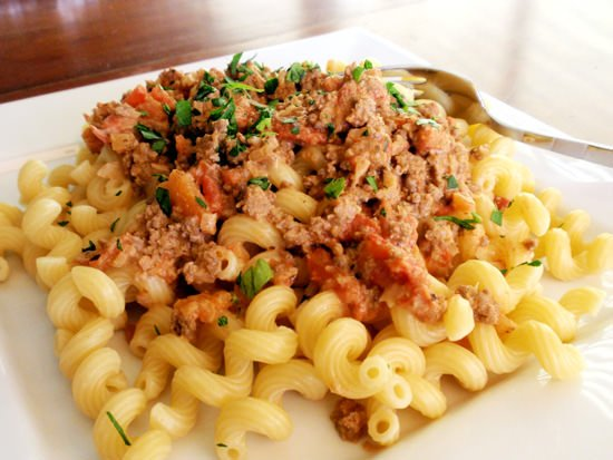 Pasta with Creamy Meat Sauce
