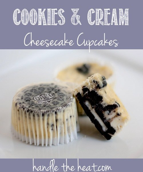 Cookies and Cream Cheesecake Cupcakes, the most popular recipe on my blog with over a million hits!
