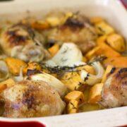 Maple Roasted Chicken & Sweet Potatoes