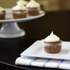 Not-so-Red Velvet Cupcakes with Cream Cheese Frosting