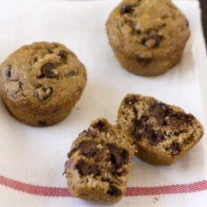 Recipe Makeover: Healthier Banana Espresso Chocolate Chip Muffins
