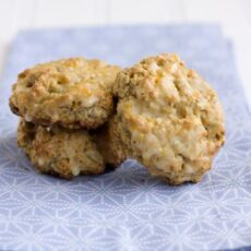 Macadamia-Oat Scones with Orange Glaze