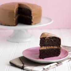 Double Chocolate Cake + A Blog Birthday
