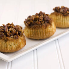 Sticky Pecan Upside-Down Cupcakes