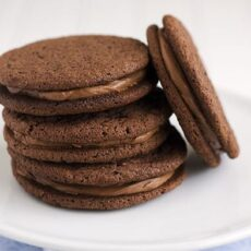 Chocolate Malt Sandwich Cookies