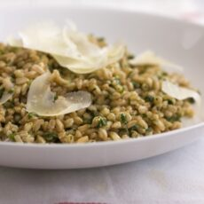 Farro with Coarse Pesto