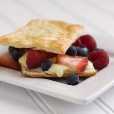 White Chocolate & Berries Dessert Pastries
