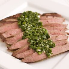 Grilled Flank Steak with Spicy Parsley Sauce