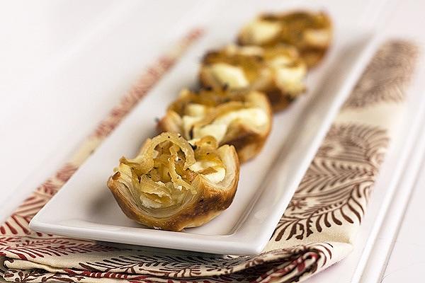Cheesy Caramelized Onion Pastry Bites