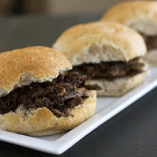 Slow-Cooker Balsamic Pulled Pork Sliders