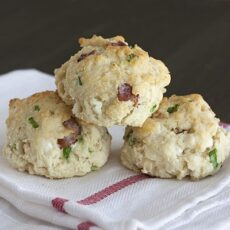 Bacon, Goat Cheese, and Green Onion Biscuits