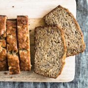 This is the best ever easy banana bread recipe with a super moist and tender texture and tons of sweet banana flavor. Everyone loves this recipe!