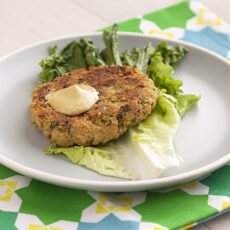 Chickpea-Brown Rice Burgers