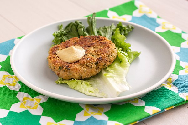 Chickpea-Brown Rice Burgers - Handle the Heat
