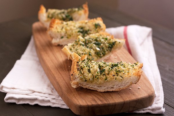 Double-Garlic & Herb Bread - Handle the Heat