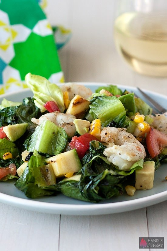 Grilled California Chopped Salad with Shrimp - so fresh and colorful!