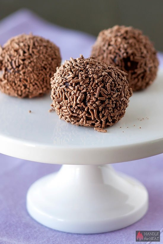 Chocolate Brigaderios - ultra rich, fudgy, and chocolaty Brazilian treat!