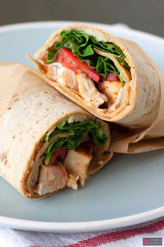 Creole Chicken Wraps - flavorful portable lunch!