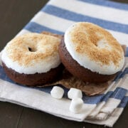 Baked S'mores Doughnuts from handletheheat.com