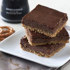 Chocolate Stout Cheesecake Bars