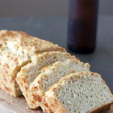 Cheesy Beer Batter Bread