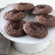 Double Chocolate Thumbprint Cookies