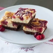 Cranberry Swirl Cheesecake Bars