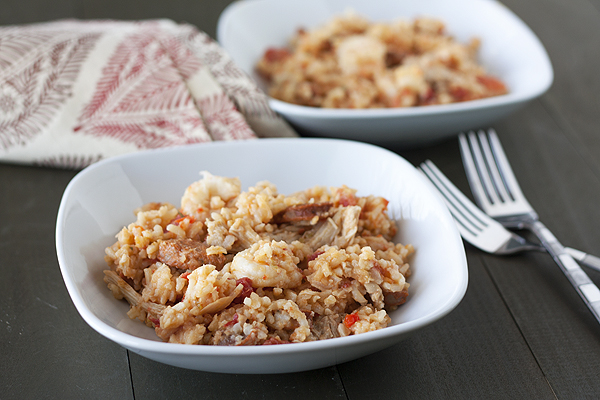 Chicken and Shrimp Jambalaya - Handle the Heat