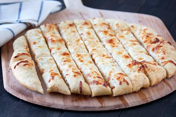 Cheesy Beer Breadsticks