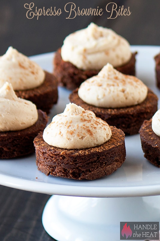 Fudgy Espresso Brownie Bites with Kahlua Buttercream