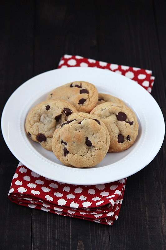 Quick & Easy Chocolate Chip Cookies for when you need to satisfy a craving asap! Def keeping this recipe!