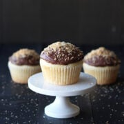 Almond Cupcakes with Chocolate Coconut Buttercream