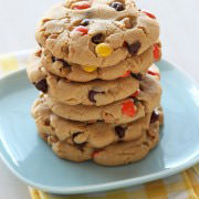 Giant Reeses Choc Chip Cookies