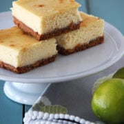 Lime and White Chocolate Cheesecake Bars
