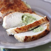 Pesto Cream Cheese Stuffed Chicken