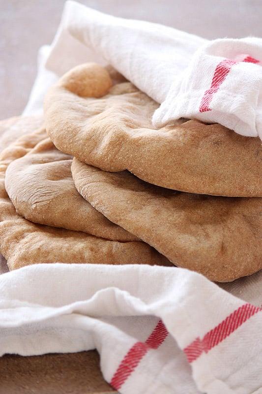 Homemade Whole Wheat Pita - Handle the Heat