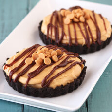 Chocolate & Peanut Butter Mousse Tarts