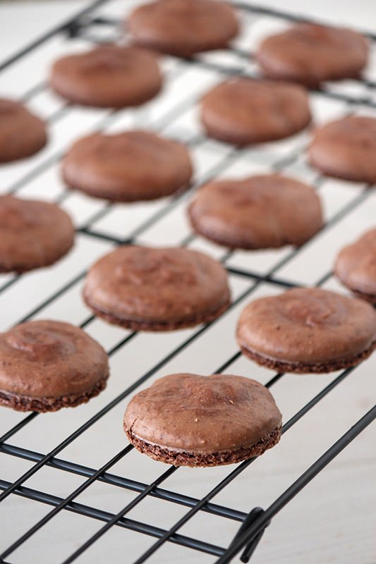 Chocolate Espresso Macarons from HandletheHeat.com