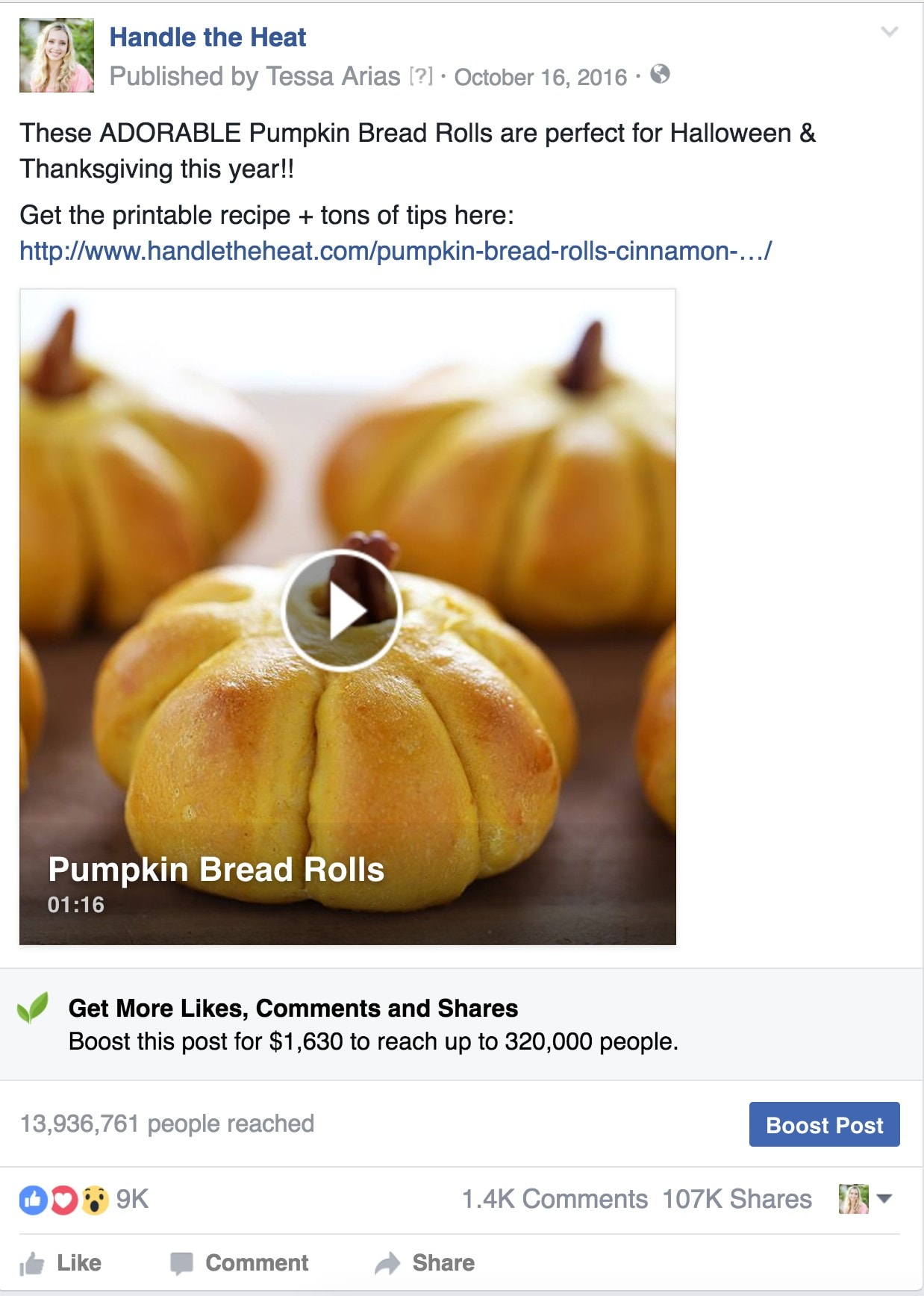 Handle the Heat Facebook Pumpkin Roll Video