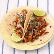 Potato, Poblano, Chorizo Tacos