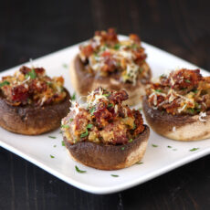 Prosciutto and Parmesan Stuffed Mushrooms