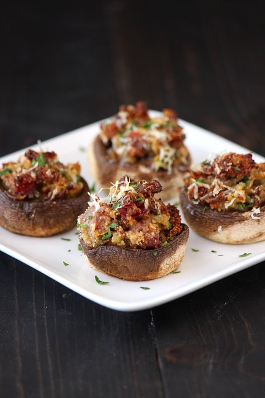 Prosciutto and Parmesan Stuffed Mushrooms from Handle the Heat