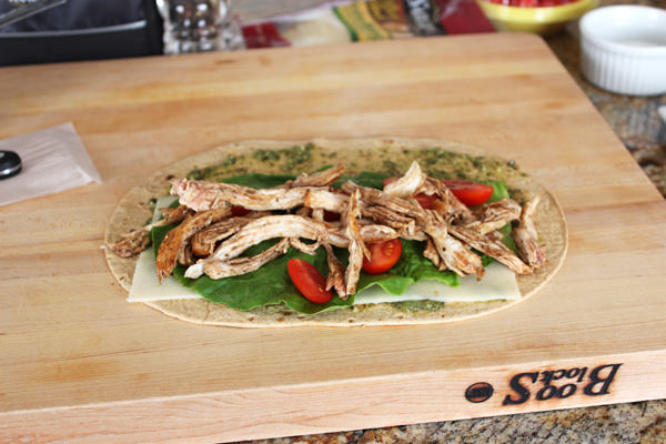 Chicken Caprese Sandwich Wrap from Handletheheat.com