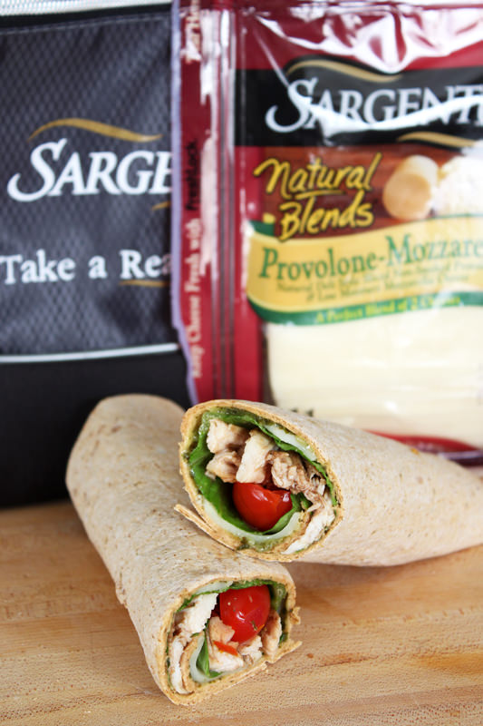 Chicken Caprese Sandwich Wrap from Handletheheat.com