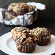 Chocolate Coffee Toffee Crunch Muffins from HandletheHeat.com