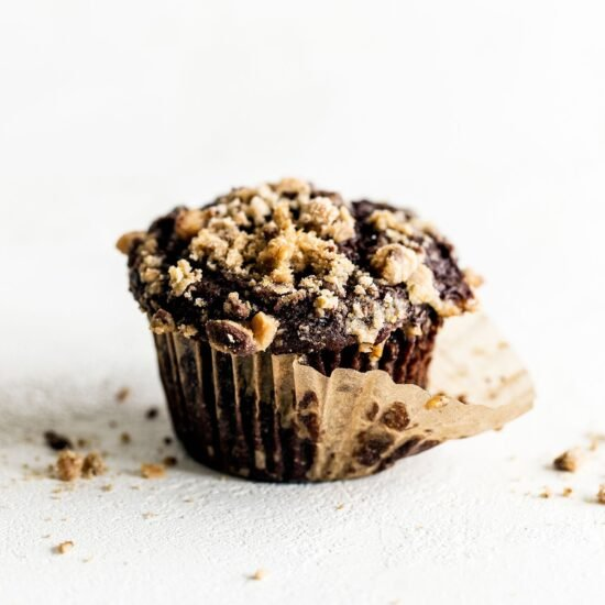 Chocolate Coffee Toffee Crunch Muffins