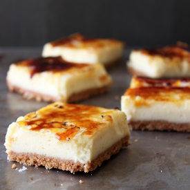 Creme Brule Cheesecake Bars TS